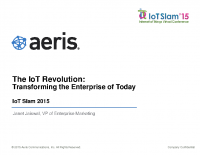 IoT Slam Internet of Things Conference The IoT Revolution Transforming the Enterprise of Today