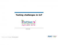 NEW CHALLENGES IN SOFTWARE TESTING THE IOT