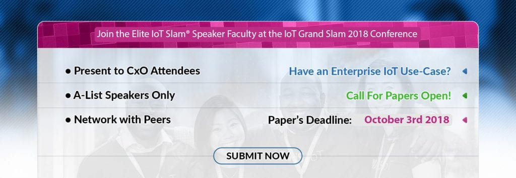IoT Community IoT Grand Slam 2018 Front Page Slide 3 Call for Papers